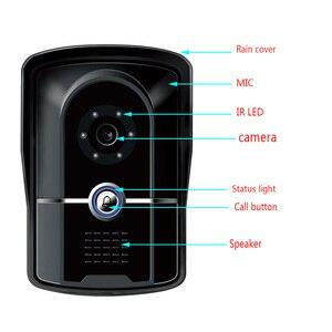 Image 4 - 7 inç kablolu görüntülü kapı telefonu interkom sistemi IP55 sınıf su geçirmez kamera ile gece Visior