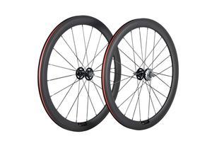 Image 1 - Paire de roues en carbone 38/50 mmpneu roues de vélo de piste 700Cx23 3 K/UD moyeu Novatec mat 20/24 trous roue dentée fixe unique