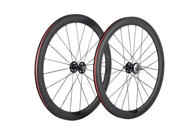 Paire de roues en carbone 38/50 mmpneu roues de vélo de piste 700Cx23 3 K/UD moyeu Novatec mat 20/24 trous roue dentée fixe unique