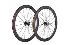 Tam karbon tekerlek 38/50mm kattığı parça bisiklet tekerlekleri 700Cx23 3 K/UD mat Novatec Hub 20/24 delik tek sabit dişli çark