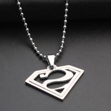 10pcs stainless steel Batman Superman sign Justice pendant Necklace Superhero Captain America League Movie necklace Jewelry justice league of america volume 1 world s most dangerous tp