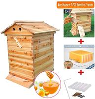 Automático de madeira casa colméia 7pcs colméia quadro colméia abelhas de madeira apicultura equipamentos colmeia fornecimento apicultor ferramenta|Colmeias abelhas| |  -