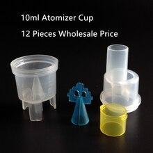 12 шт. 10 мл ингалятор чашка распылитель медицина туман компрессор небулайзер аксессуары распылитель при астме чашка забота о здоровье