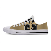 Saints Lightweight Fashion Men/Women Casual Shoes Breathable Flat Canvs Sneakers New Orleans Football Fans Shoes