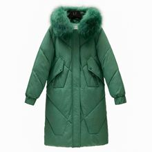 Winter 2019 New Casual Fur Parka Women Tops Sustans Hooded A Line Thick Full Sleeve Zipper Solid X Long fashion Coat Plus Size