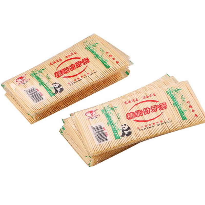 250PCS/ Bag Disposable Wood Natural Bamboo Toothpick For Home Restaurant Hotel Products Toothpicks Tools(China)