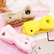 Женская плюшевая повязка для волос с милым мультяшным Кроликом