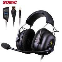 Somic G936N PS4 Gaming Headset Pc Gamer Hoofdtelefoon Met Mic 3.5 Mm/Usb 7.1 Surround Sound Hoofdtelefoon Voor Xbox een Telefoon Mac Laptop