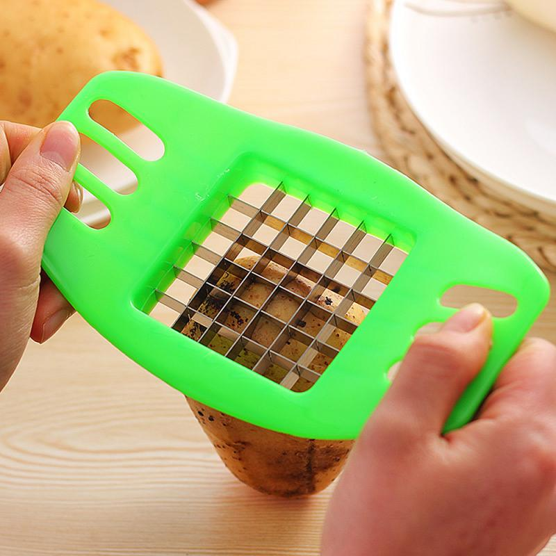 1pc Potato Chip Cutter Stainless Steel Cutter Potatoes Cutter Chopper Chips Making Tool Kitchen Gadgets Accessories