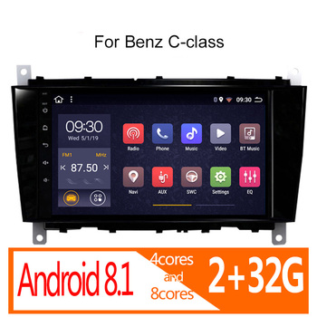 autoradio android 2+32G for Benz c-class clase C W203 2004 2005 2006 2007 CLC W467 2008 2009 2010 2011 car radio auto Navi coche image