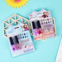 Disney frozen princess наклейки для ногтей набор игрушек моющийся