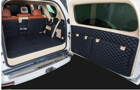 Full set car trunk mats + Rear door mat for Lexus GX 460 7 seats 2020 2010 waterproof boot carpets cargo liner for GX460 2016