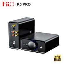 Fiio k5 pro amplificador de áudio de alta fidelidade ak4493 deskstop amp dac com saída rca/6.35/3.5mm USB-B/opt/coaxial/rca entrada 768k/32bit dsd512