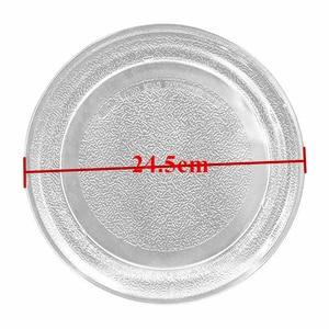 Image 1 - Стеклянная пластина для микроволновой печи 24,5 см, плоская крышка для микроволновой печи, детали для микроволновой печи Galanz Midea LG
