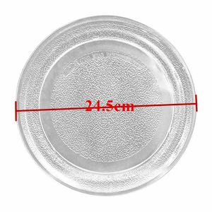 Image 1 - Kuchenka mikrofalowa płyta szklana 24.5cm płaska pokrywa do kuchenki mikrofalowej do części piekarnika mikrofalowego Galanz Midea LG