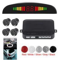 Universal Auto Sensor de estacionamiento con luz Led Parktronic pantalla 4 sensores copia inversa asistencia Detector de Radar Sistema de Monitor
