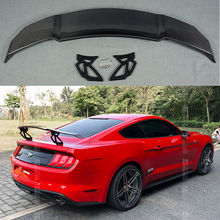 V Style Track GT Carbon Fiber Rear Trunk Roof Lip Universal Spoiler Wing Fit For For Ford Mustang 2015 - UP gt style carbon fiber rear wing carbon fiber car rear wing trunk lip spoiler for ford mustang 2015 up gt 350