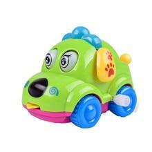 Hot Sale Children Clockwork Funny Wind Up Toys Cartoon Puppy Tongue Clockwork Car Educational Toys fro kids