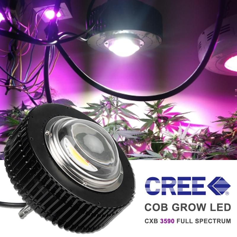 Полный спектр 100 Вт COB светодиодный светильник для выращивания CXB3590 CXB2530 для растений в помещении, лампа для выращивания 3500 K, семена цветов, растущий светильник s