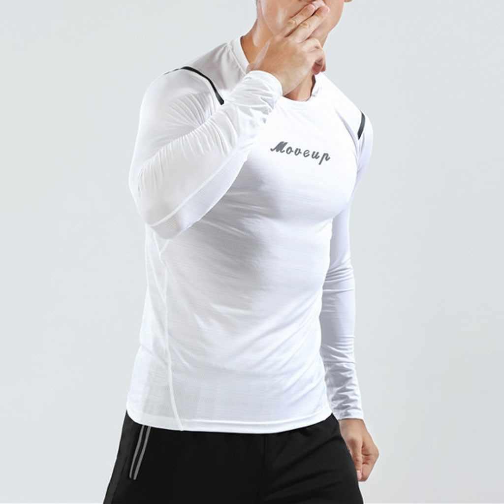 Футболка с длинными рукавами для мужчин, футболка для фитнеса, футболка для спортзала, спортивная одежда, сухая посадка, Мужская футболка для бега, компрессионная футболка, спортивные тренировки # g4