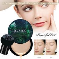 Sunisa Грибная голова макияж воздушная подушка Cc крем увлажняющий основа Воздухопроницаемый натуральный Осветляющий Макияж Bb крем