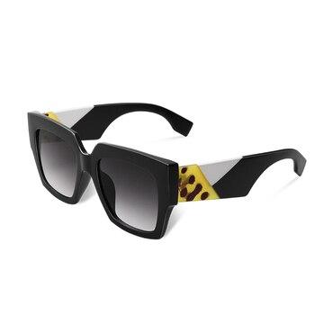 2019 double eleven Square Oversized Sunglasses Women Luxury Brand New Designer Gradient Sun Glasses Big Frame Vintage Eyewear - C1