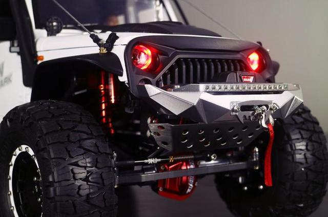 TRAXXAS TRX-4 Defender Axial Scx10 II 90046 90047 compatible front bumper rear bumper with LED light