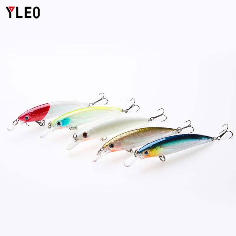 YLEO 1PCS 11cm 14g Fishing Lure Quality Minnow 3D Eyes Plastic Bait  Bionic