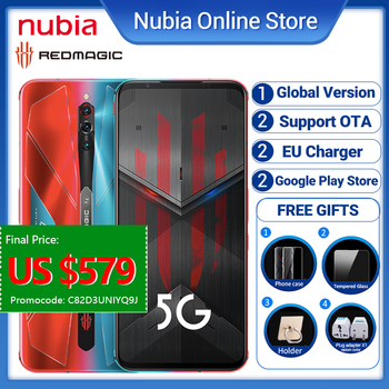 Global Version Nubia Red magic 5S Gaming Smartphone 5G 256GB 12GB Redmagic 5S 5G Game Mobile Phone Snapdragon 865 NFC 6.65