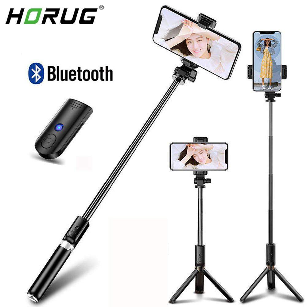 Wireless Bluetooth Selfie Stick For IPhone Xiaomi Huawei Monopod Tripod Foldable Handheld Shutter Remote Extendable Selfie Stick