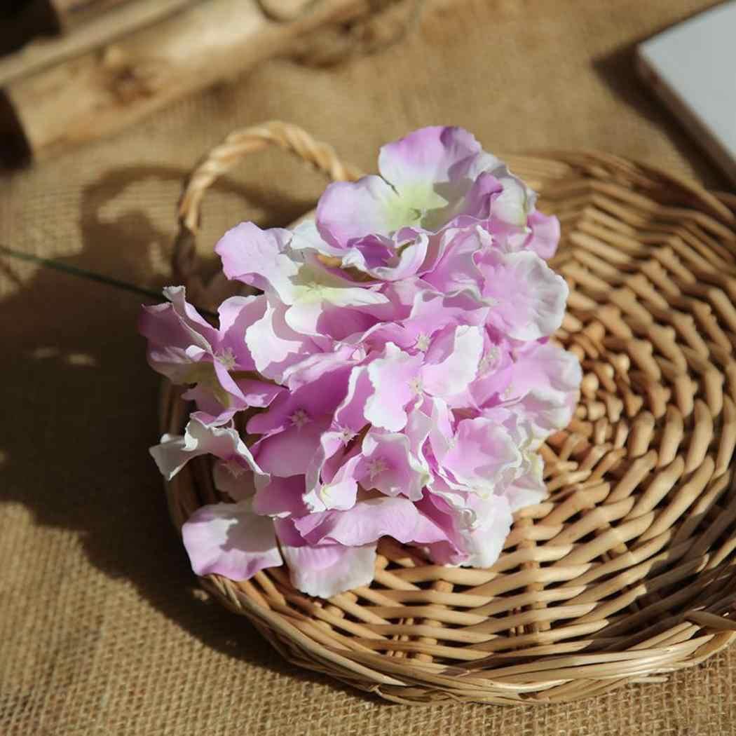 Kunstmatige Hortensia Boeket Bruids Bloemen voor Home Garden Party 1 x Bruid Bruiloft 17.3 9 cm/3.5 inch Decor