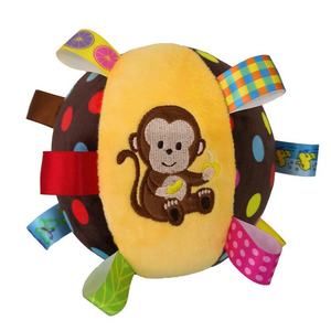 Image 5 - Baby Toys 0 12 Months Childrens Ring Bell Ball Baby Cloth Music Mobile Learning Toy Plush Educational Hand Grasp Rattle Ball