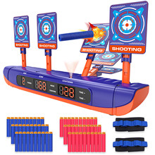 For Nerf Guns Bullets Auto Reset Electric Shooting Target Accessories Kids Sound Light Shooting Game toys High Precision Scoring