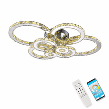 Surface mounted Modern LED crystal ceiling lights for living room bedroom luxury 8 rings decorate home 15-30 meters