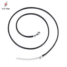 Korean fashion wax rope necklace DIY jewelry accessories with chain 1.5 / 2 / 3MM(China)