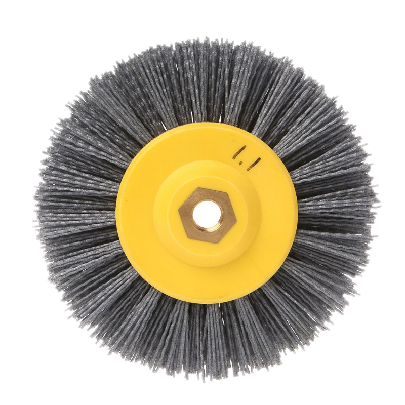 Top-1 Piece 150x40mm X M14 P60Nylon Abrasive Wire Polishing Brush Wheel For Wood Furniture Stone Antiquing Grinding