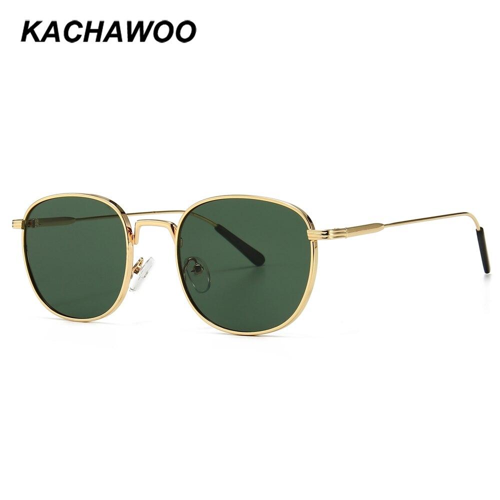 Kachawoo kadın kare güneş gözlüğü metal altın yeşil erkek moda güneş gölge plaj 2020 yaz hediyeler öğeleri uv400 sıcak satış 2020