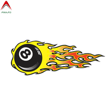 Volkrays Eight Ball Flames Hot Rod Performance Car Stickers Automobiles Motorcycles Styling PVC Decal Waterproof 13cm*5cm cheap Aliauto The Whole Body Glue Sticker Animal Creative Stickers Not Packaged