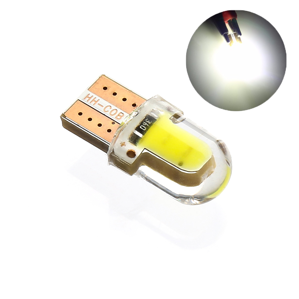 LED W5W  194 168 W5W COB 8SMD Led Parking Bulb Auto Wedge Clearance Lamp CANBUS Silica Bright White License Light Bulbs