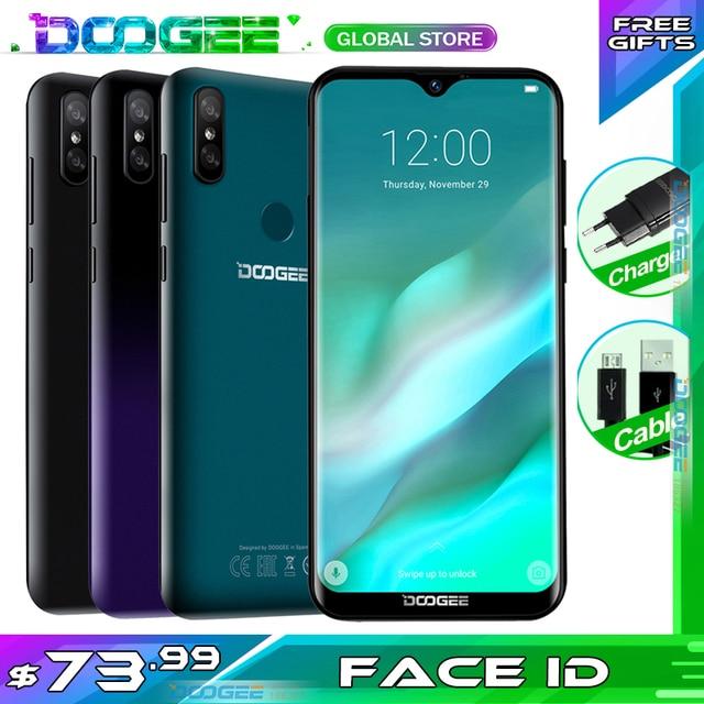 """Yükseltme 32GB ROM DOOGEE Y8 Android 3GB RAM 9.0 Smartphone 6.1 """"FHD 19:9 ekran 3400mAh MTK6739 4G LTE cep Waterdrop ekran"""