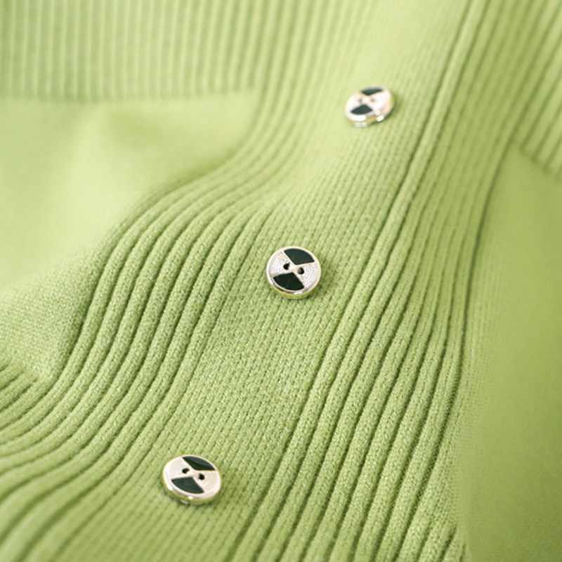 GIGOGOU длинное женское платье на пуговицах с ложным карманом, трикотажное ТРАПЕЦИЕВИДНОЕ ПЛАТЬЕ, пуловер с высоким воротом, топы, мягкие женские макси платья