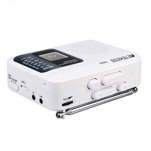 Image 4 - Retekess TR 606 נייד רדיו קלטת רדיו FM AM מגנטי קלטת קלטת השמעת קול מקליט 48cm אנטנת 3.5mm מיקרופון