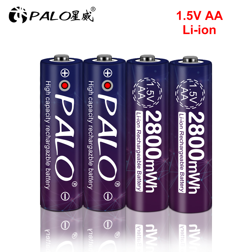 1.5v AA batterie rechargeable 2800mwh li-ion lithium ion AA 2A batteries
