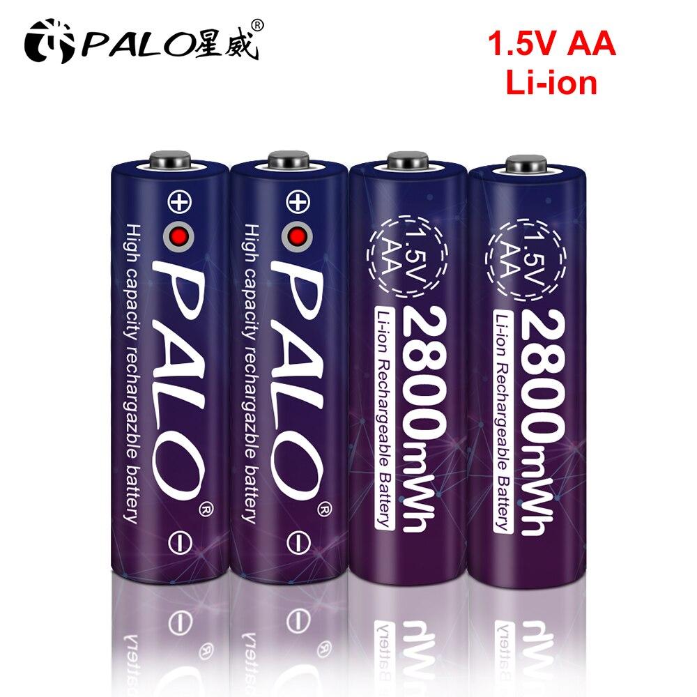 1.5v akumulator AA 2800mwh akumulator litowo-jonowy akumulator litowo-jonowy AA 2A baterie