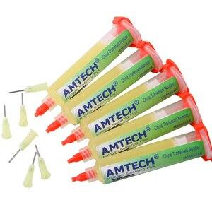 Image 1 - AMTECH pasta de soldadura 100% BGA PCB, pasta de soldadura No limpia, pasta de flujo de aceite avanzada, pasta de reparación de soldadura de 10cc, NC 559 ASM Original