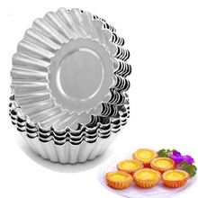 10PCS Egg Tart Mold Mould Nonstick Baking Cup Aluminum Cupcake Mould Cake Cookie Lined Mold Mould Tin Baking Tool Non-toxic