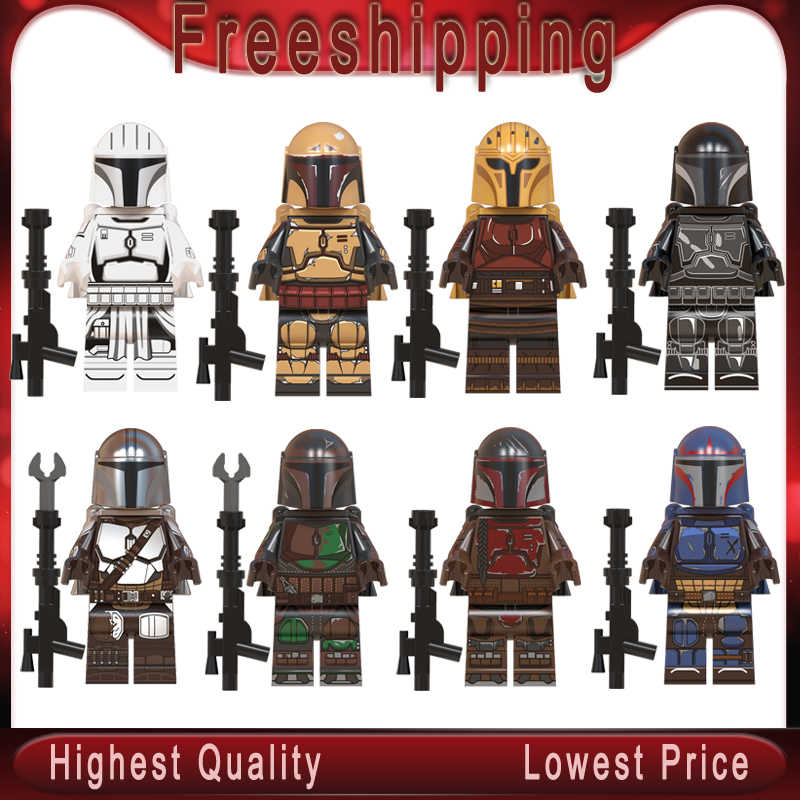 Legoed starwars WM6085 The Mandalorian Baby Yoda Knights of Ren Virtual Community Kylo Vadar Figures Building Blocks Child Toys
