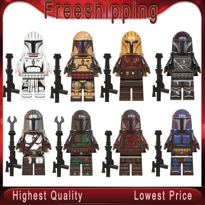 Legoed Starwars WM6085 The Mandalorian Baby Yoda Knights Of Ren Virtual Community Kylo Vadar Figures Building Blocks Child Toys
