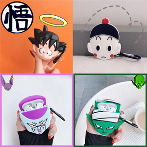 Japan Anime Dragon Ball Goku Frieza Piccolo Buu Headset Case For Airpods 2 1 Cartoon 3D silicone Bluetooth Earphone Box Cover(China)