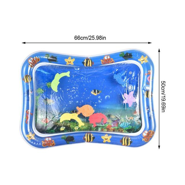 Baby Water Play Mat Inflatable Infant Water Play Cushion Toddler Tummy Fun Activity Pad For Sensory Stimulation Playmat Dropship